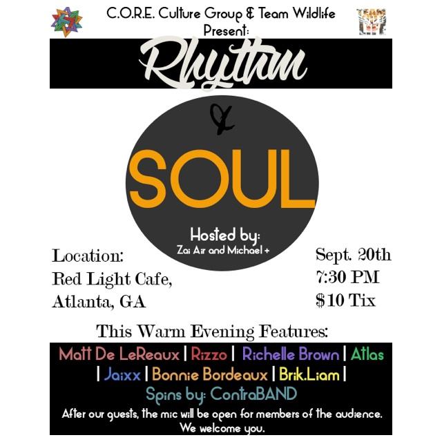 Rhythm & Soul — September 20, 2014 — Red Light Café, Atlanta, GA