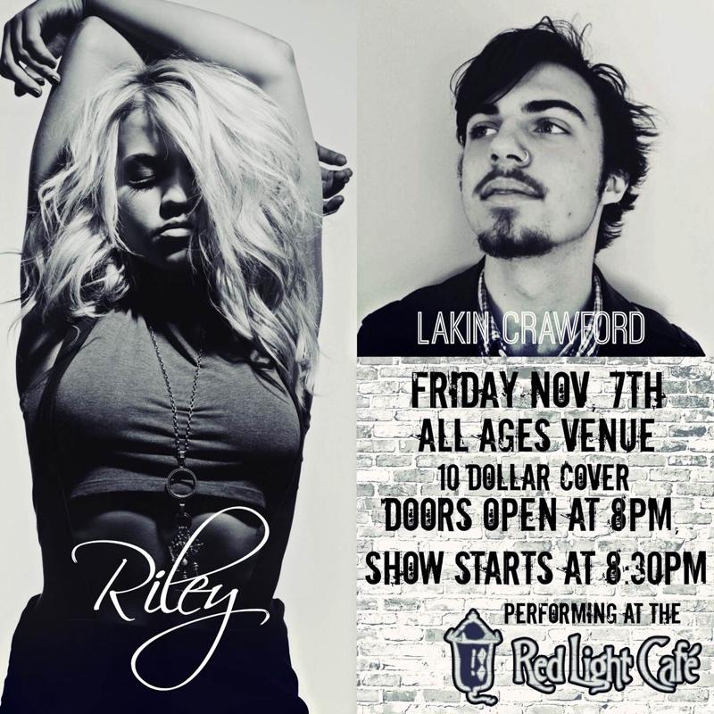 Riley Biederer with Lakin Crawford — November 7, 2014 — Red Light Café, Atlanta, GA