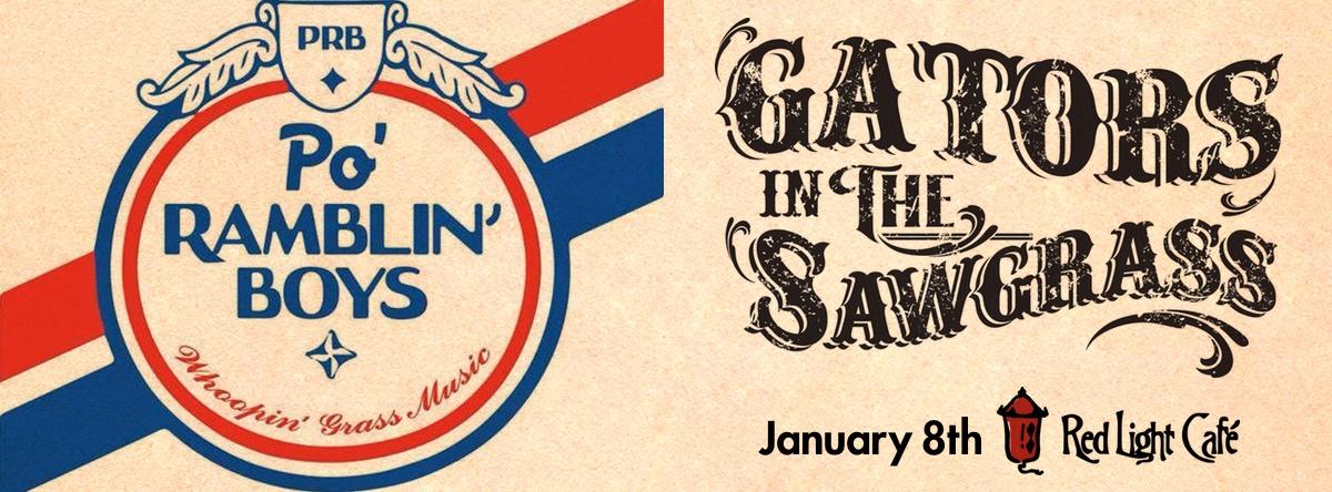 The Po' Ramblin' Boys + Gators in the Sawgrass — January 8, 2015 — Red Light Café, Atlanta, GA