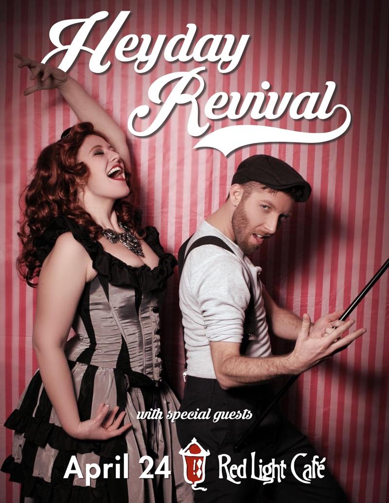Heyday Revival with special guests — April 24, 2015 — Red Light Café, Atlanta, GA