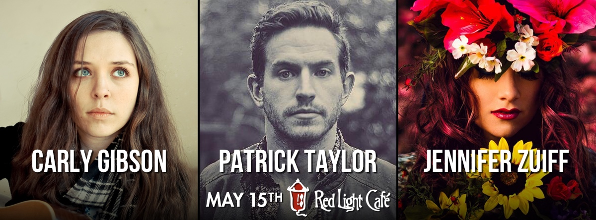 Carly Gibson + Patrick Taylor + Jennifer Zuiff — May 15, 2015 — Red Light Café, Atlanta, GA