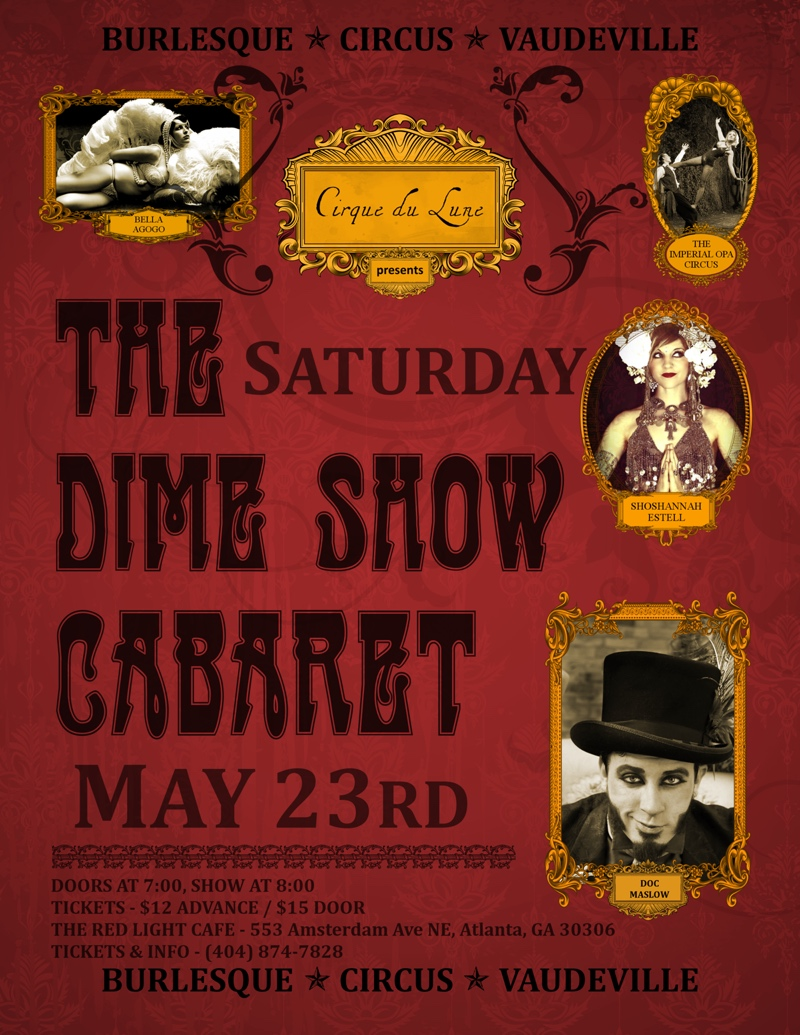 The Dime Show Cabaret — May 23, 2015 — Red Light Café, Atlanta, GA