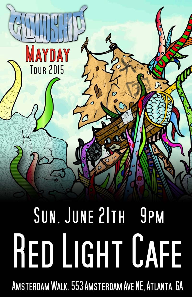 Cloudship — June 21, 2015 — Red Light Café, Atlanta, GA