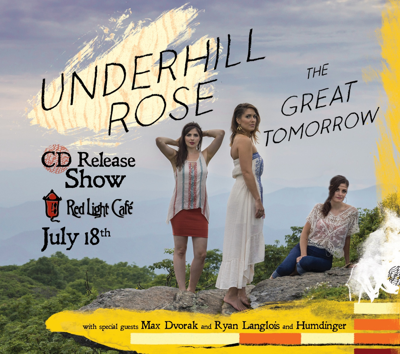 Underhill Rose CD RELEASE SHOW w/ Max Dvorak + Ryan Langlois + Humdinger — July 18, 2015 — Red Light Café, Atlanta, GA