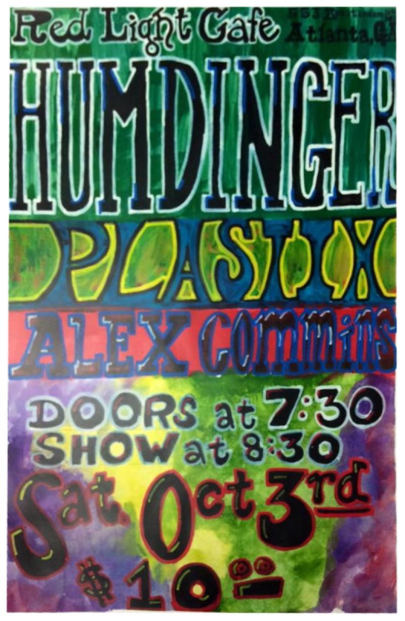 Humdinger w/ Plastix + Brian Weinberg & Alex Commins — October 3, 2015 — Red Light Café, Atlanta, GA