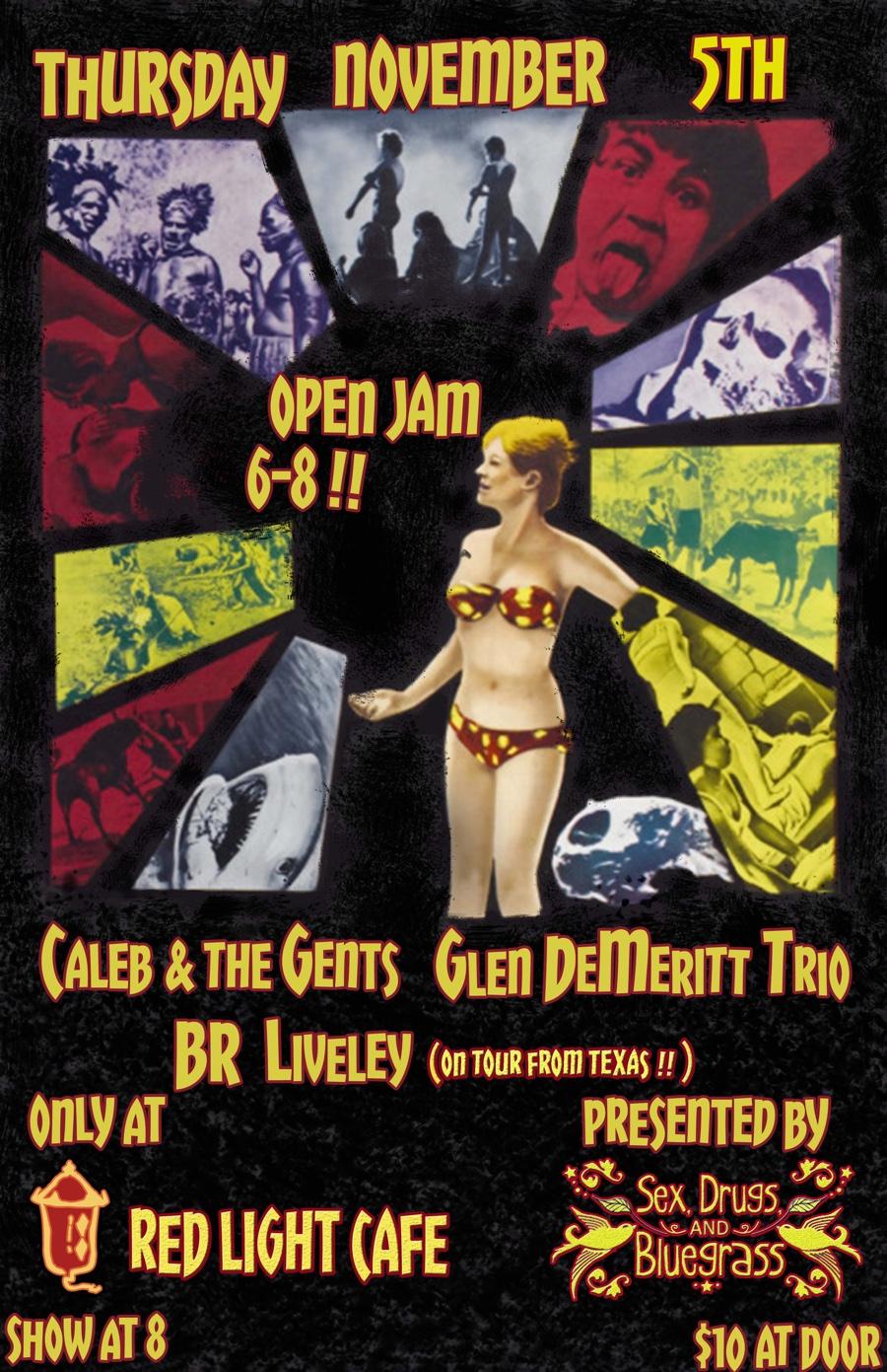 Caleb & The Gents + Glen DeMeritt Trio + B.R. Lively — November 5, 2015 — Red Light Café, Atlanta, GA