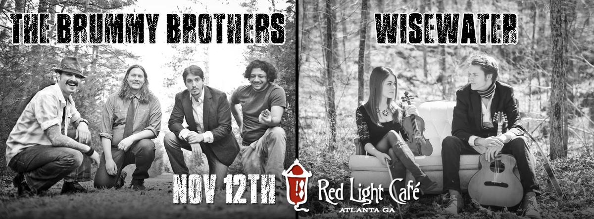 The Brummy Brothers + Wisewater — November 12, 2015 — Red Light Café, Atlanta, GA