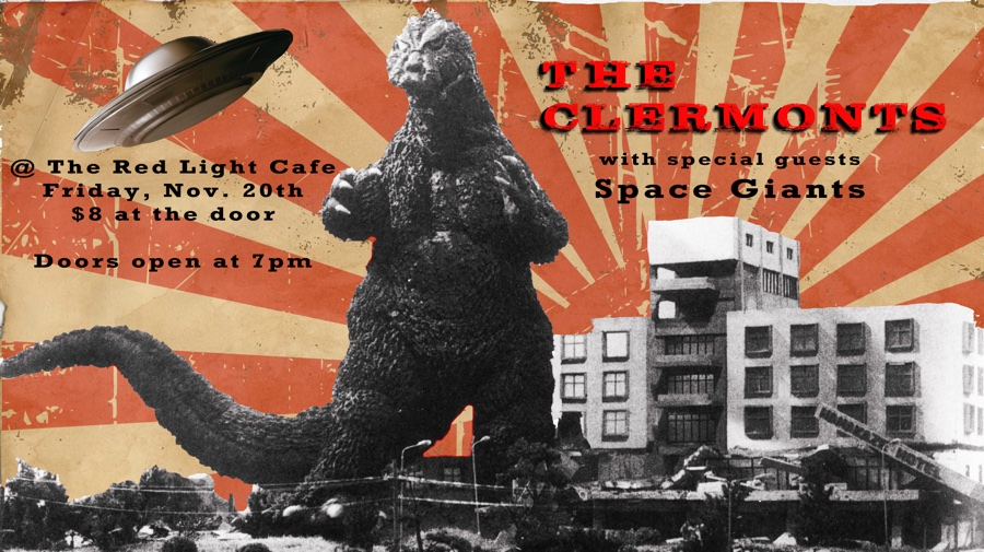 The Clermonts w/ Space Giants — November 20, 2015 — Red Light Café, Atlanta, GA