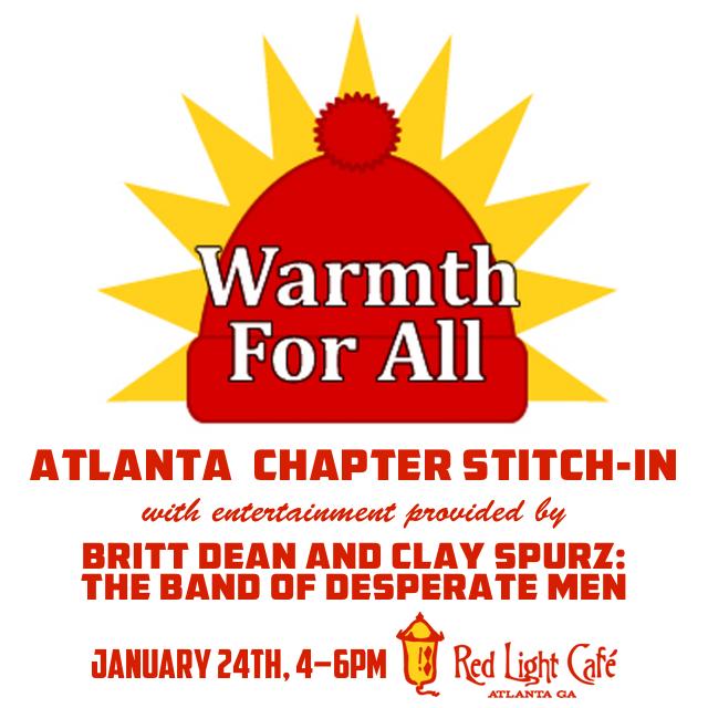 Warmth For All Atlanta Chapter Stitch-In — January 24, 2016 — Red Light Café, Atlanta, GA