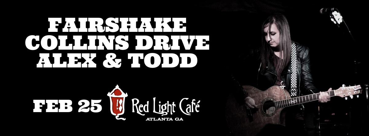 Fairshake + Collins Drive + Alex and Todd — February 25, 2016 — Red Light Café, Atlanta, GA