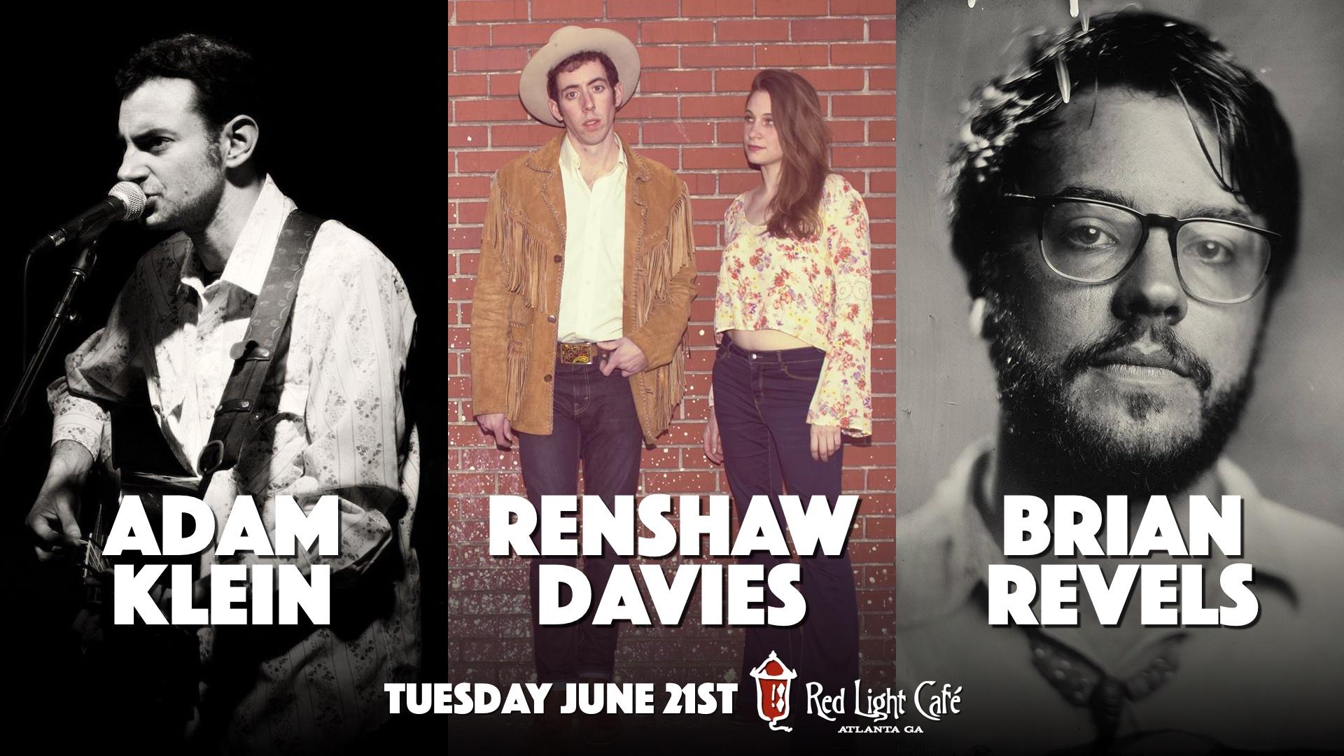 Adam Klein + Renshaw Davies + Brian Revels — June 21, 2016 — Red Light Café, Atlanta, GA