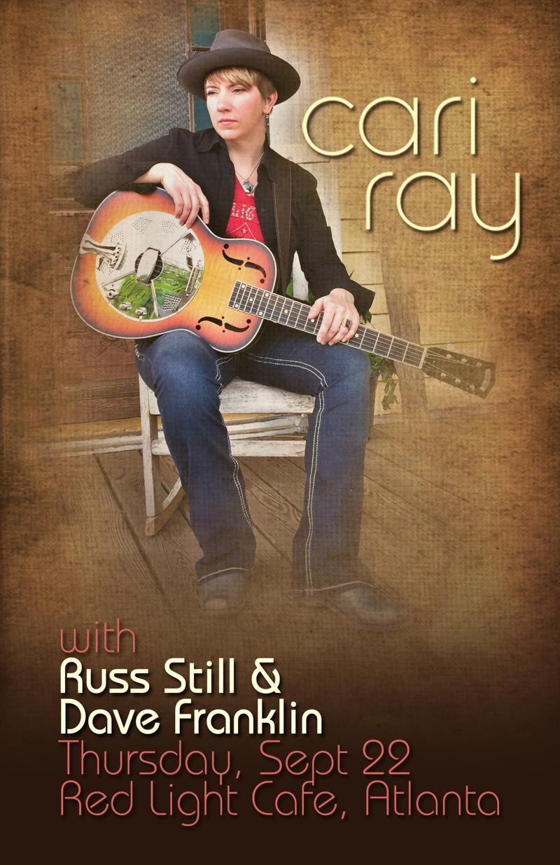 Cari Ray w/ Russ Still + Dave Franklin — September 22, 2016 — Red Light Café, Atlanta, GA