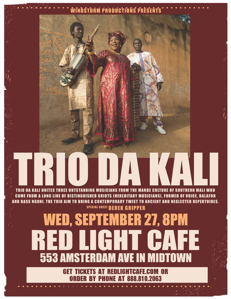 Africa Unplugged! Trio Da Kali w/ special guests Derek Grippers African Strings Project — September 27, 2017 — Red Light Café, Atlanta, GA