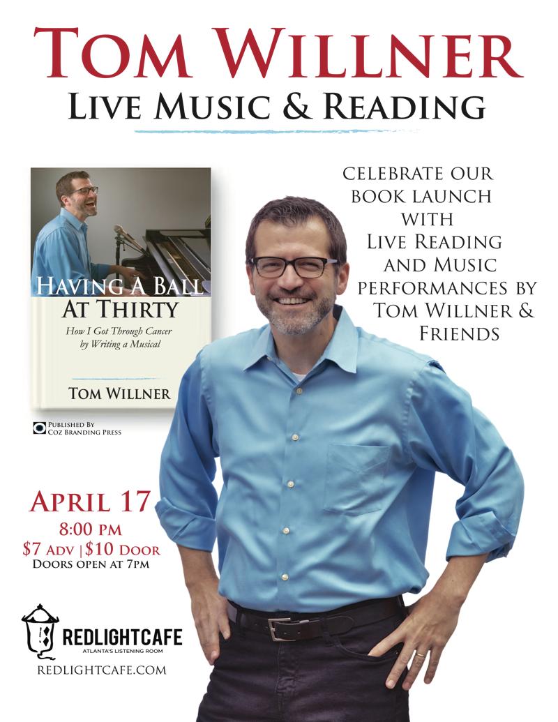 Tom Willner & Friends: Live Book Reading and Musical Performances — April 17, 2018 — Red Light Café, Atlanta, GA