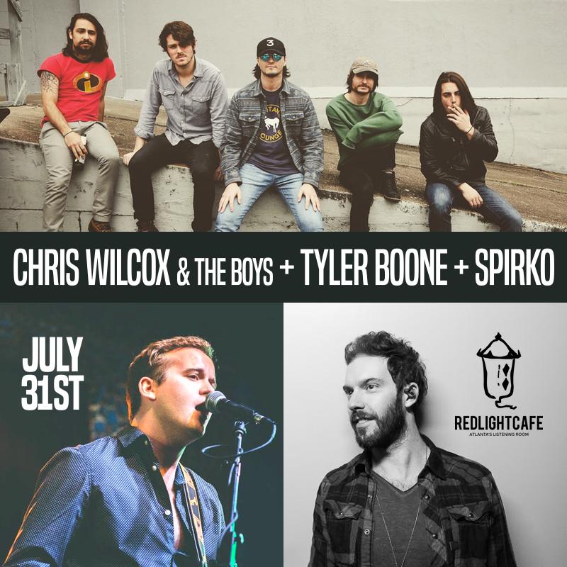 Chris Wilcox & the Boys w/ Tyler Boone + Spirko — July 31, 2018 — Red Light Café, Atlanta, GA