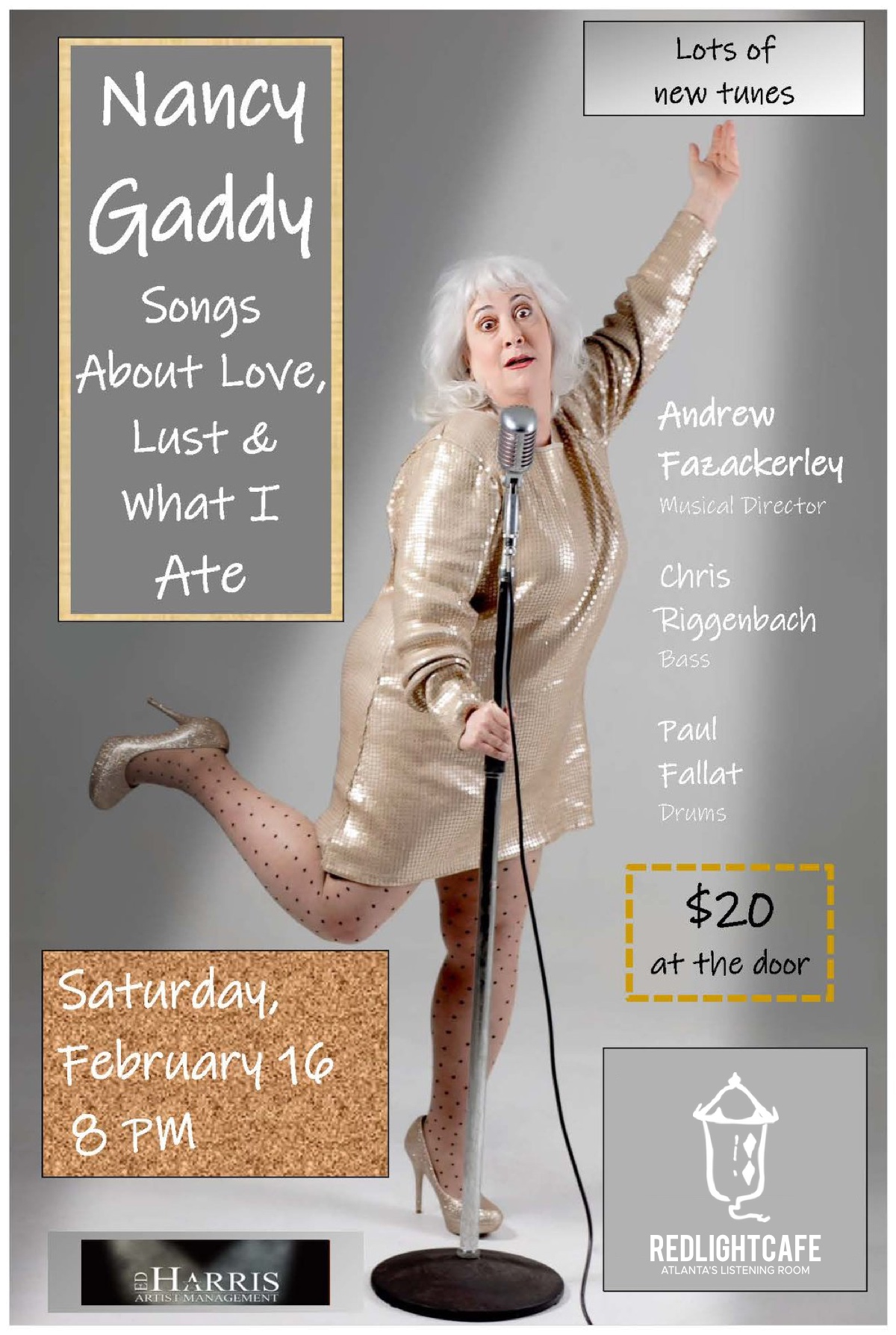 An Evening with Nancy Gaddy: Songs About Love, Lust & What I Ate — February 18, 2019 — Red Light Café, Atlanta, GA