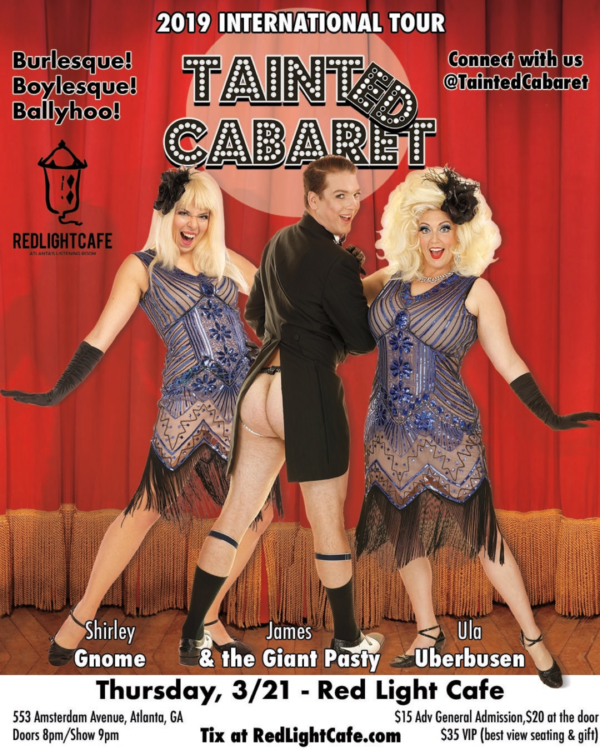 Tainted Cabaret in Atlanta! — March 21, 2019 — Red Light Café, Atlanta, GA