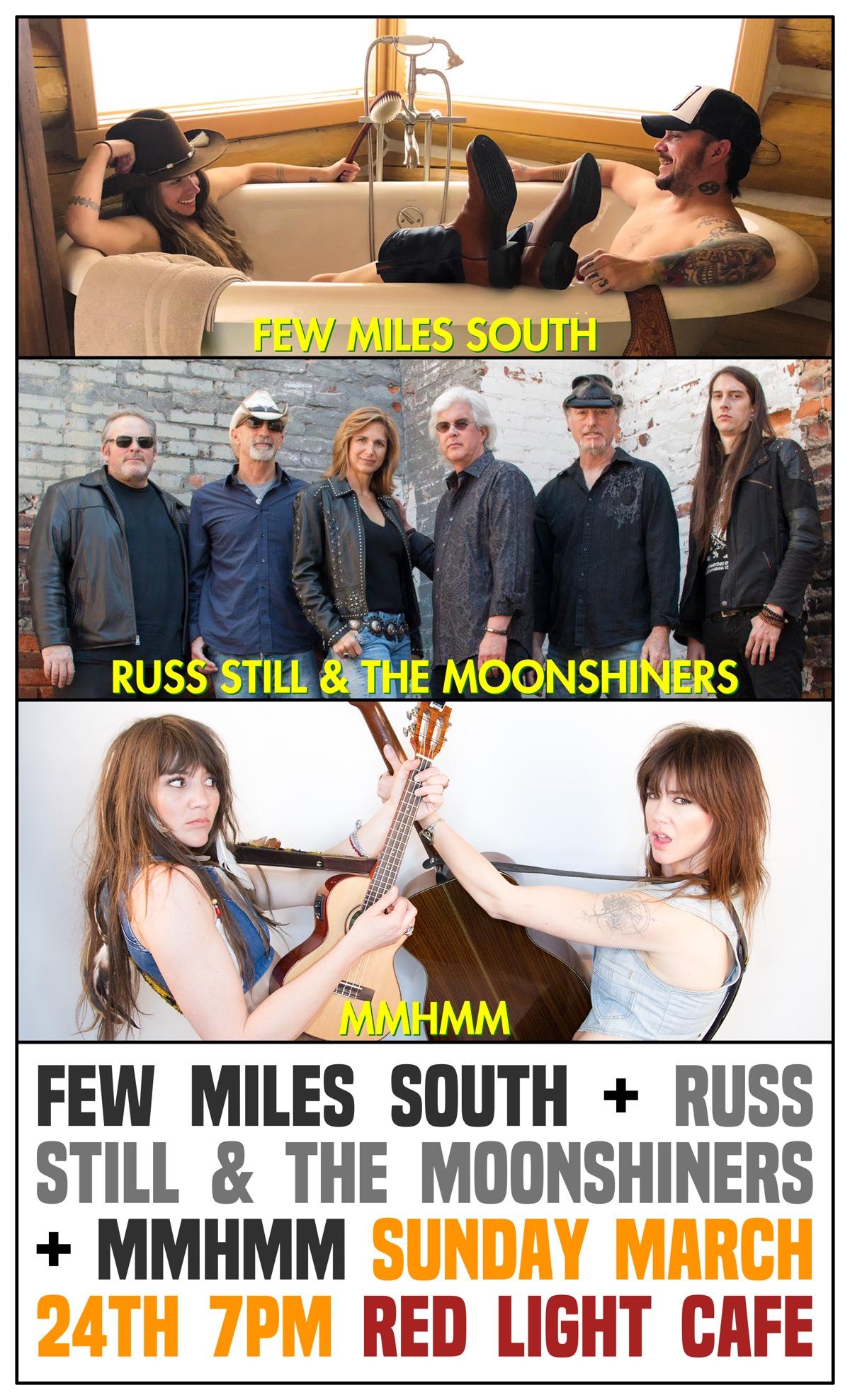 Few Miles South + Russ Still & The Moonshiners + mmhmm — March 24, 2019 — Red Light Café, Atlanta, GA