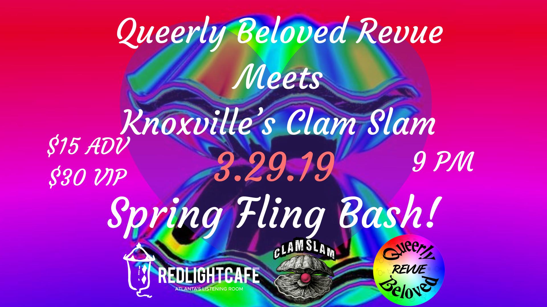 Queerly Beloved meets Clam Slam: A Spring Fling — March 29, 2019 — Red Light Café, Atlanta, GA