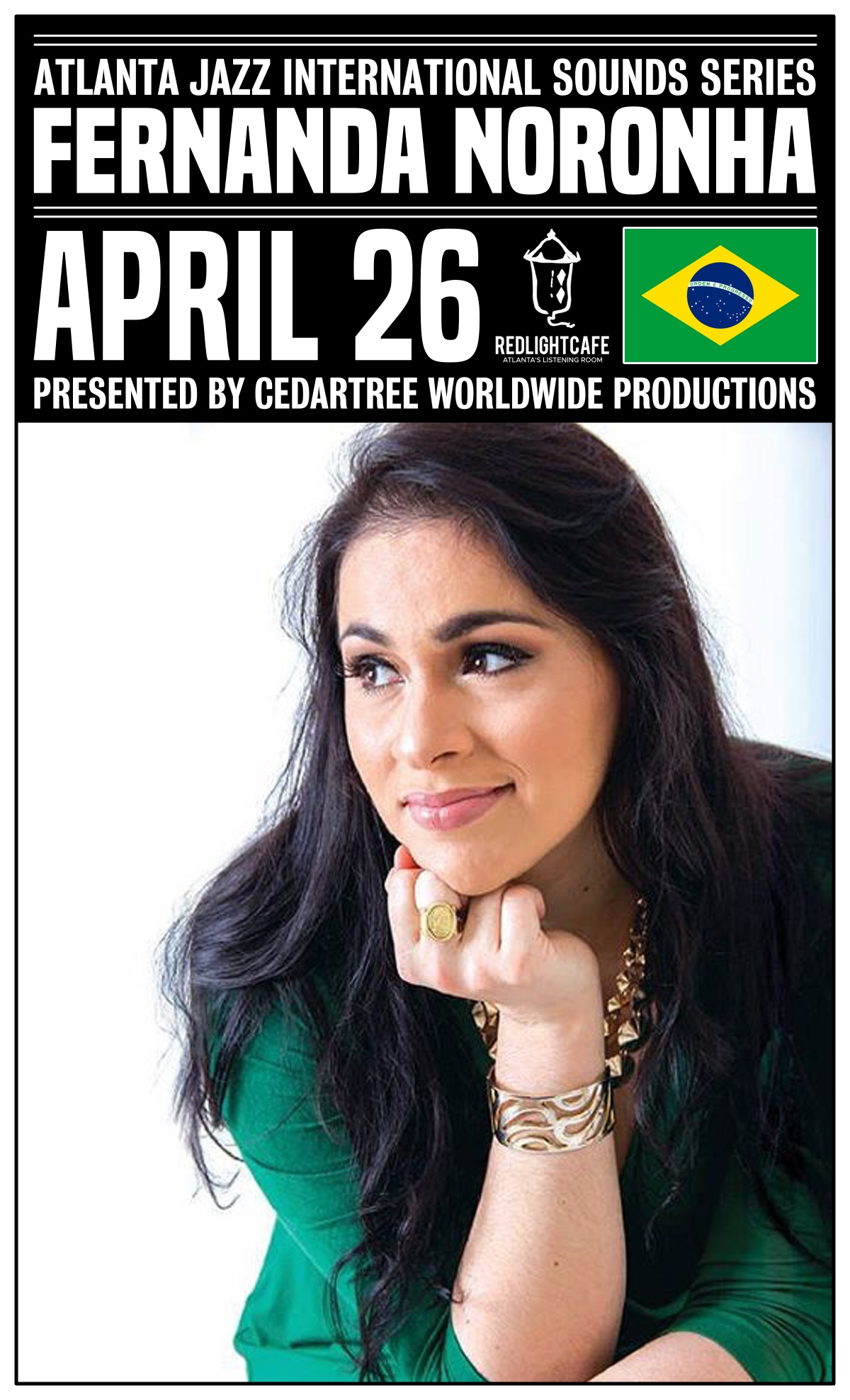 Atlanta Jazz International Sounds Series: Fernanda Noronha — April 26, 2019 — Red Light Café, Atlanta, GA