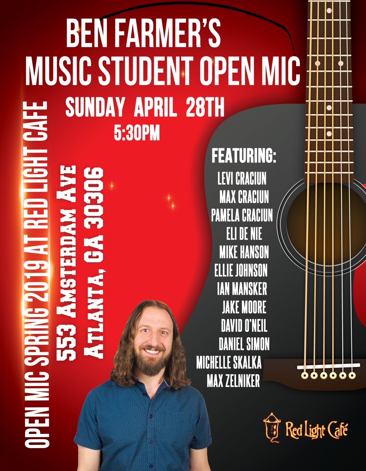 Ben Farmer's Music Student Open Mic Spring 2019 — April 28, 2019 — Red Light Café, Atlanta, GA