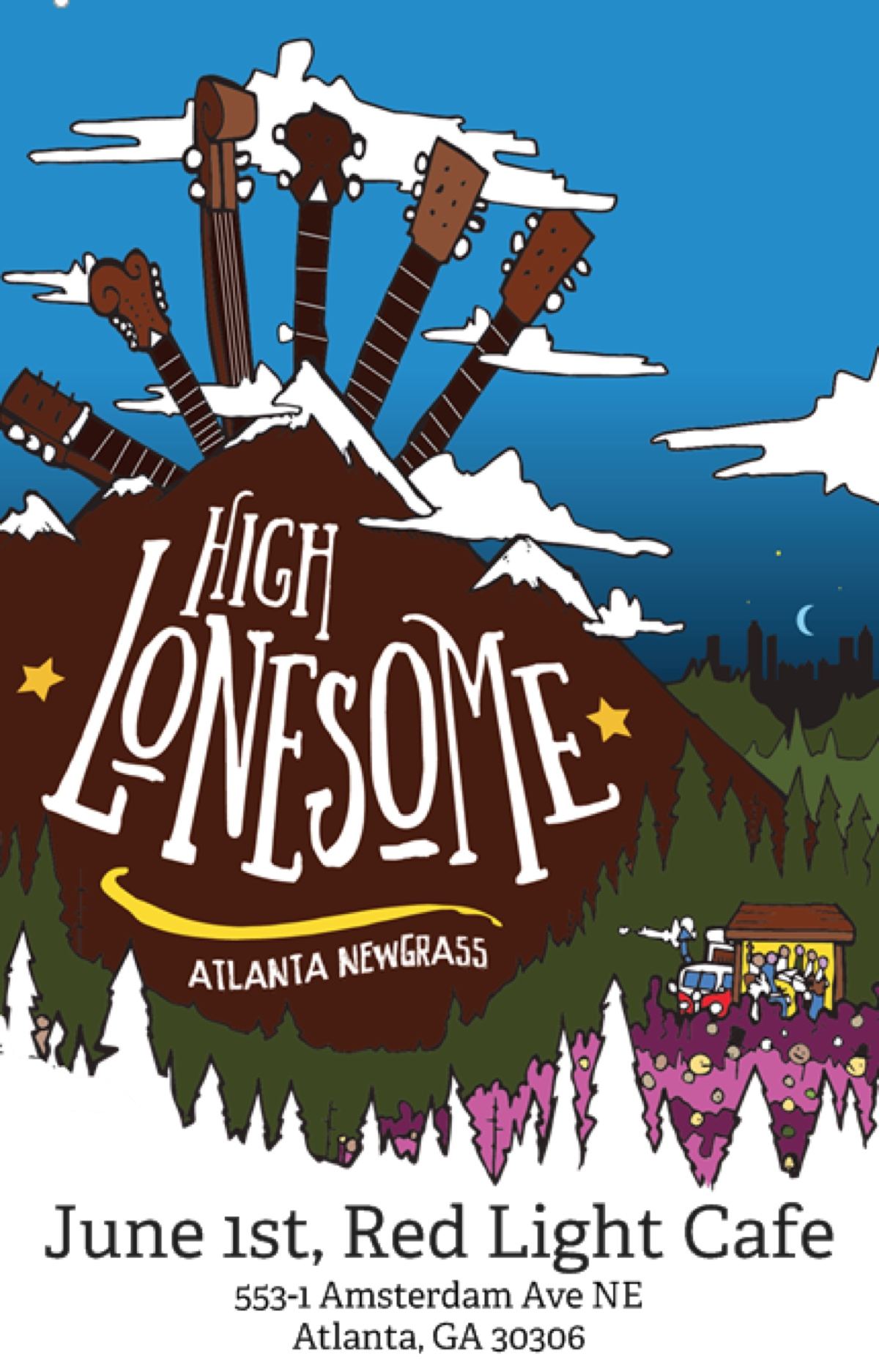 High Lonesome (Bluegrass / Newgrass / Nastygrass) — June 1, 2019 — Red Light Café, Atlanta, GA