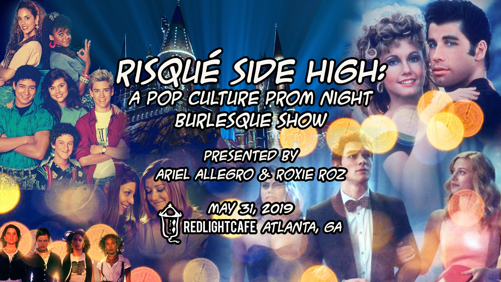 Risqué-Side High: Prom Night & Burlesque Show by Ariel Allegro — May 31, 2019 — Red Light Café, Atlanta, GA