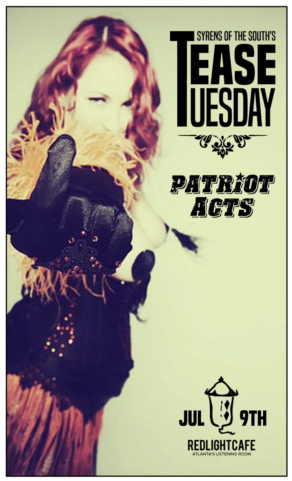 Tease Tuesday Burlesque Patriot Acts — July 9, 2019 — Red Light Café, Atlanta, GA