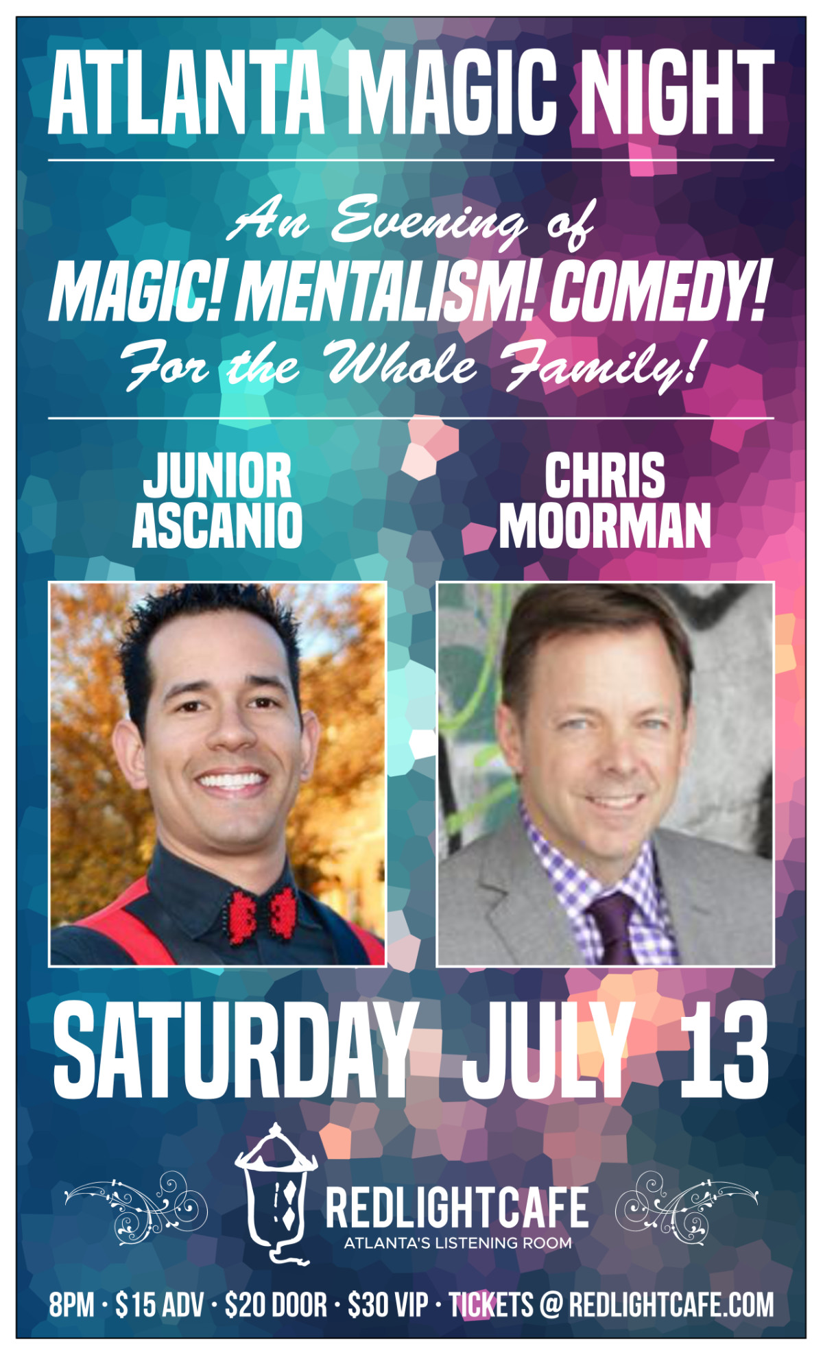 Atlanta Magic Night! w/ Junior Ascanio + Chris Moorman — July 13, 2019 — Red Light Café, Atlanta, GA