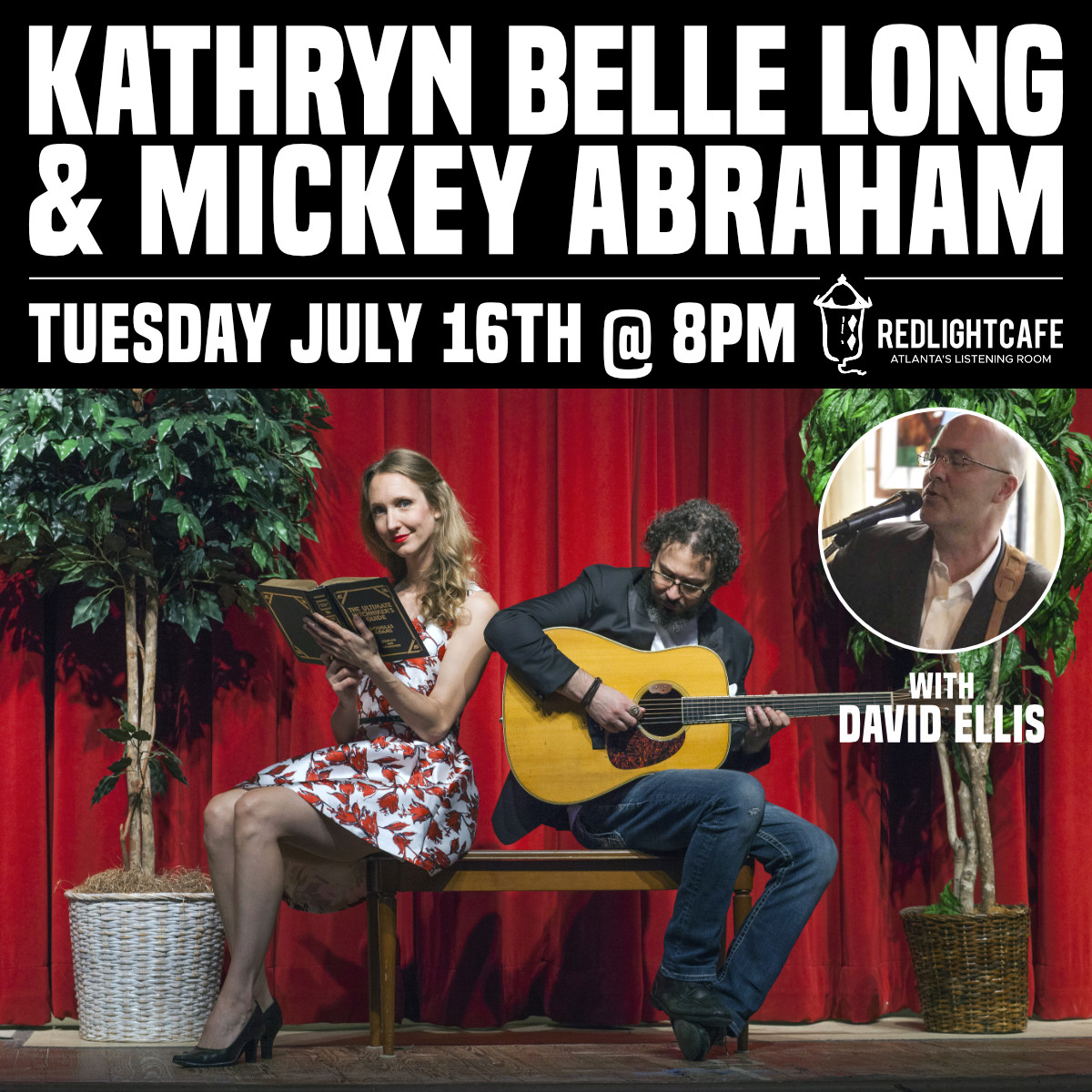Kathryn Belle Long & Mickey Abraham w/ David Ellis — July 16, 2019 — Red Light Café, Atlanta, GA