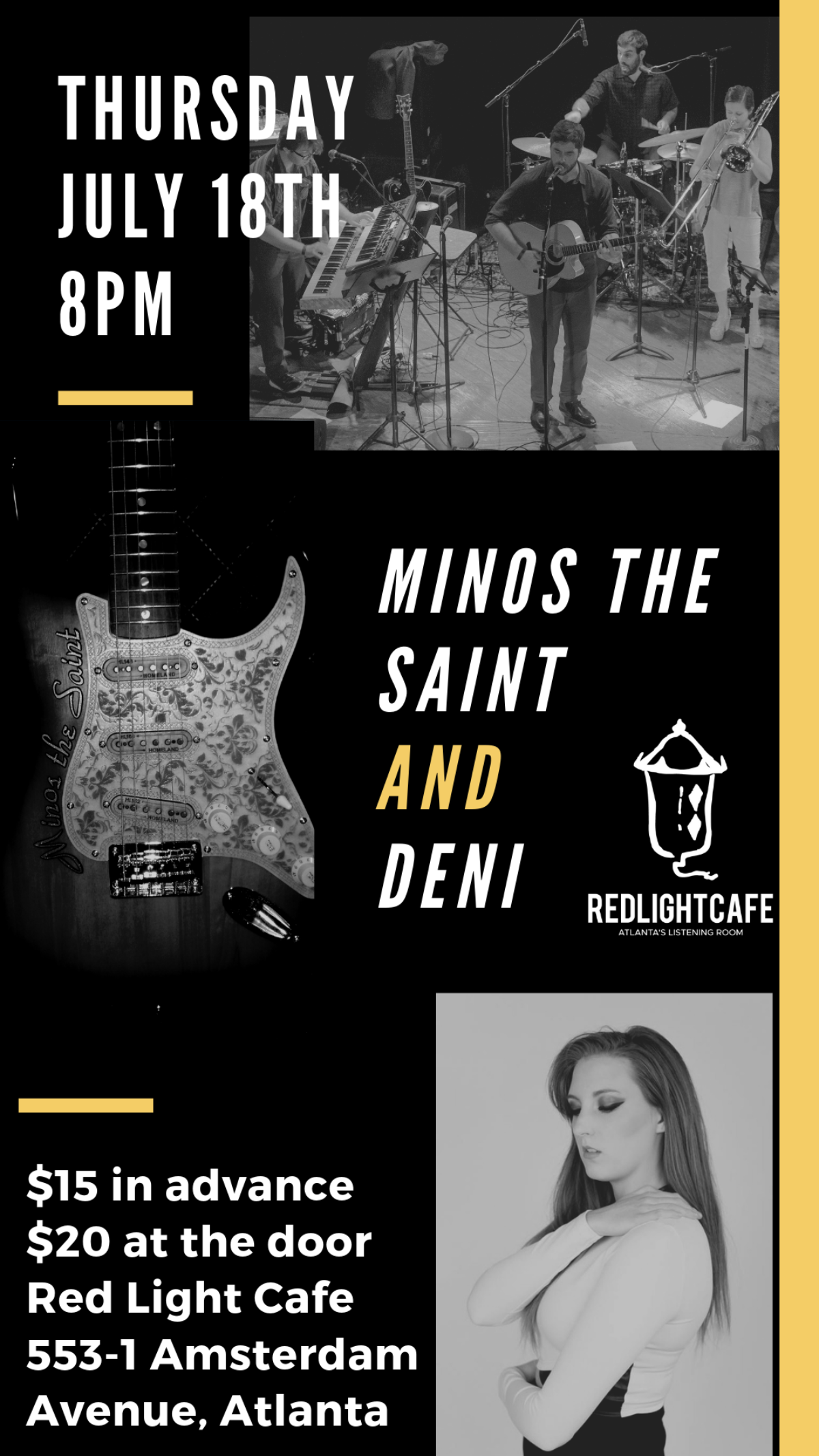 Minos the Saint w/ DENI — July 18, 2019 — Red Light Café, Atlanta, GA
