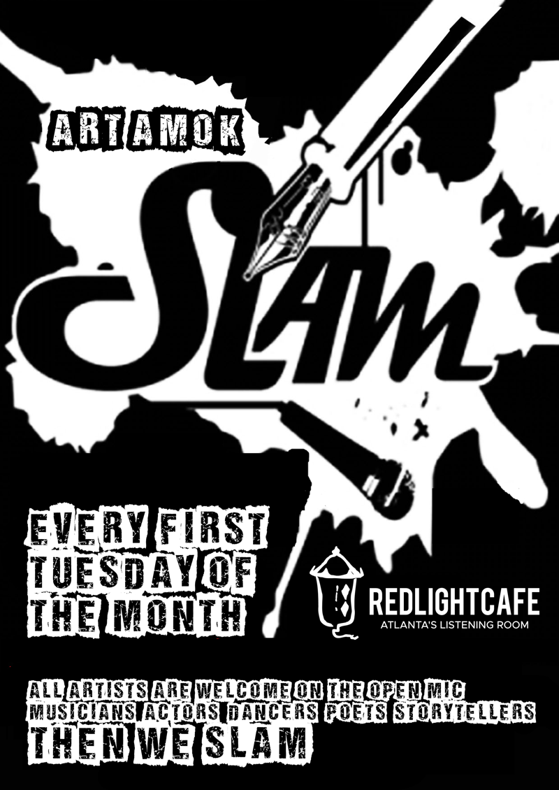 Art Amok Poetry Slam — August 6, 2019 — Red Light Café, Atlanta, GA