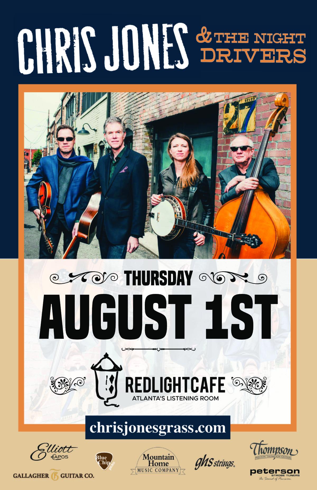 Chris Jones & The Night Drivers — August 1, 2019 — Red Light Café, Atlanta, GA