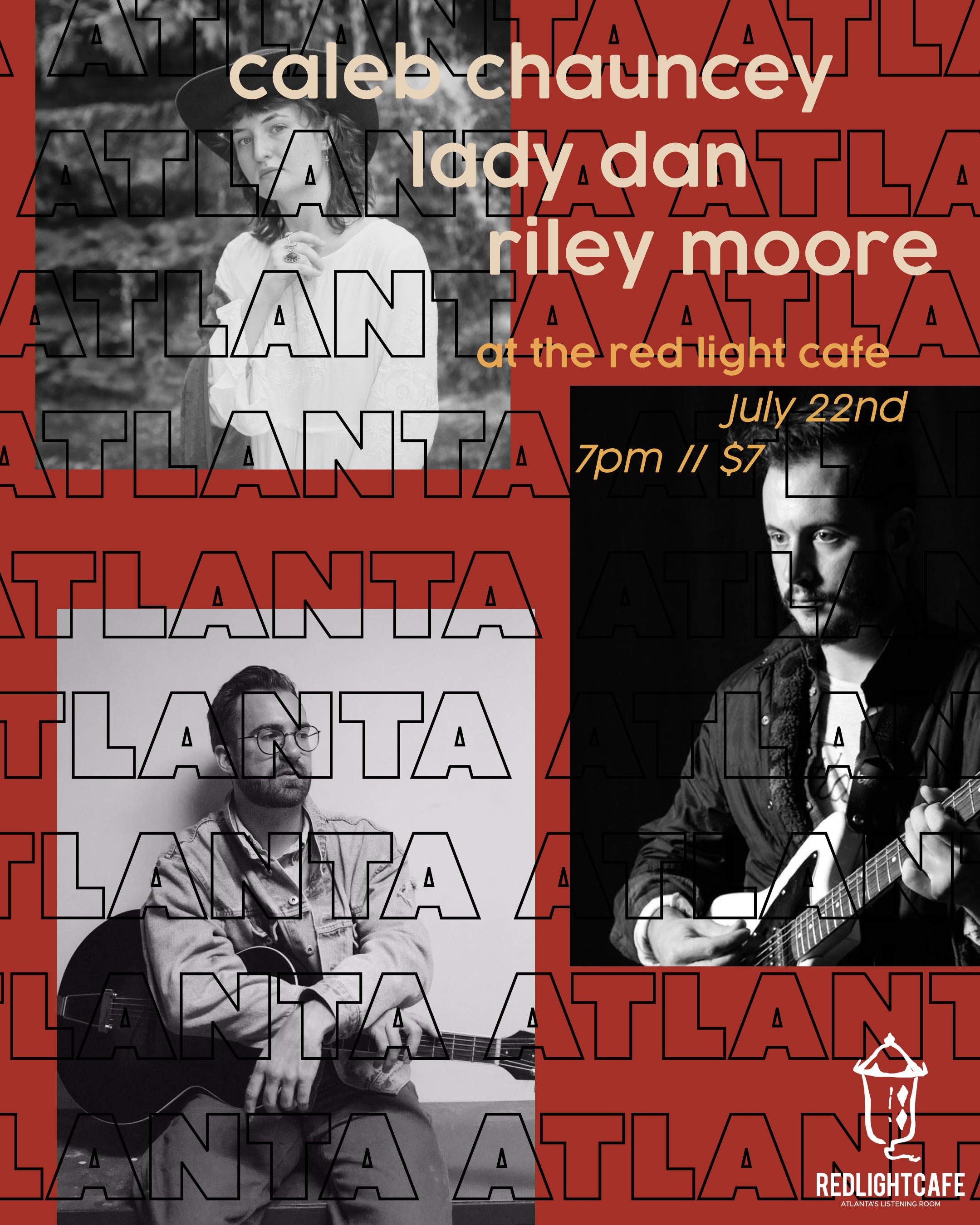 Lady Dan w/ Caleb Chauncey + Riley Moore: Saint of the Soulless Tour — July 22, 2019 — Red Light Café, Atlanta, GA
