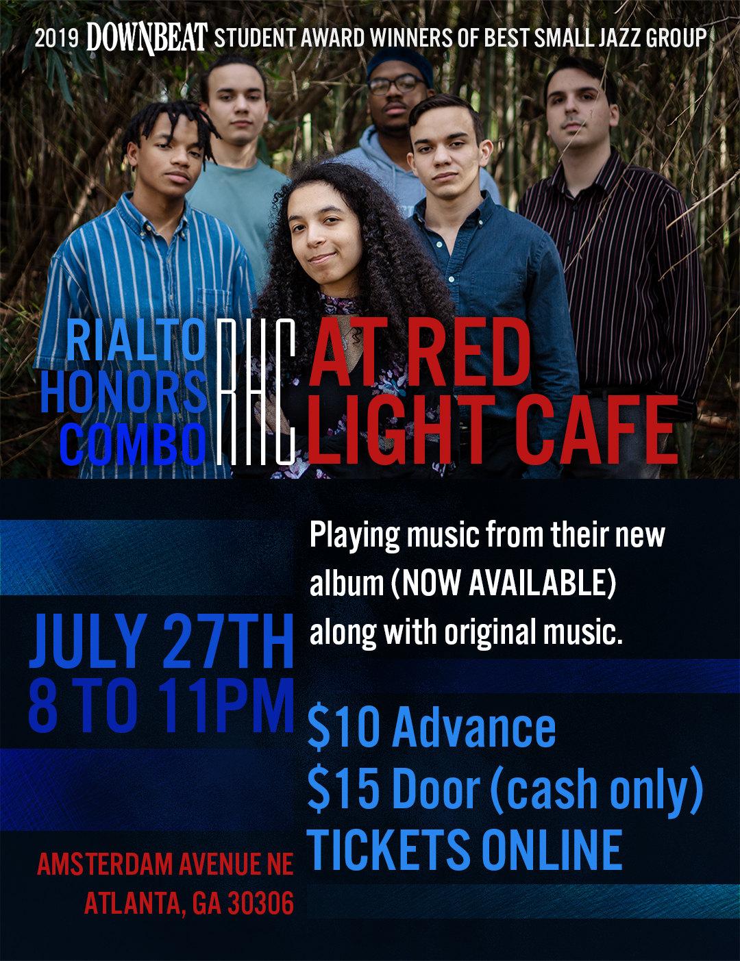 Rialto Youth Jazz Orchestra Honors Combo: Celebrating the Music of Roy Hargrove — July 27, 2019 — Red Light Café, Atlanta, GA