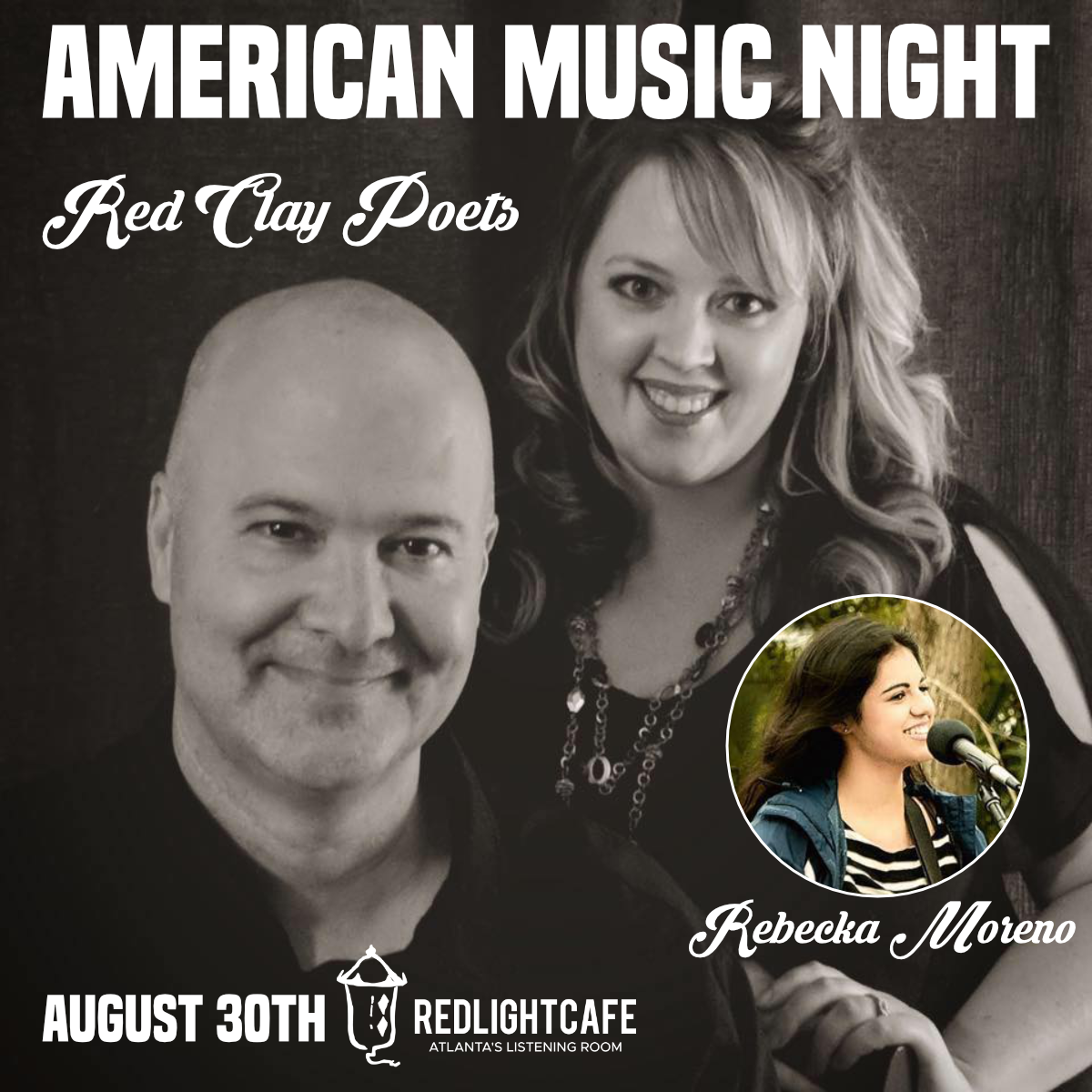 American Music Night with Red Clay Poets + Rebecka Moreno — August 30, 2019 — Red Light Café, Atlanta, GA