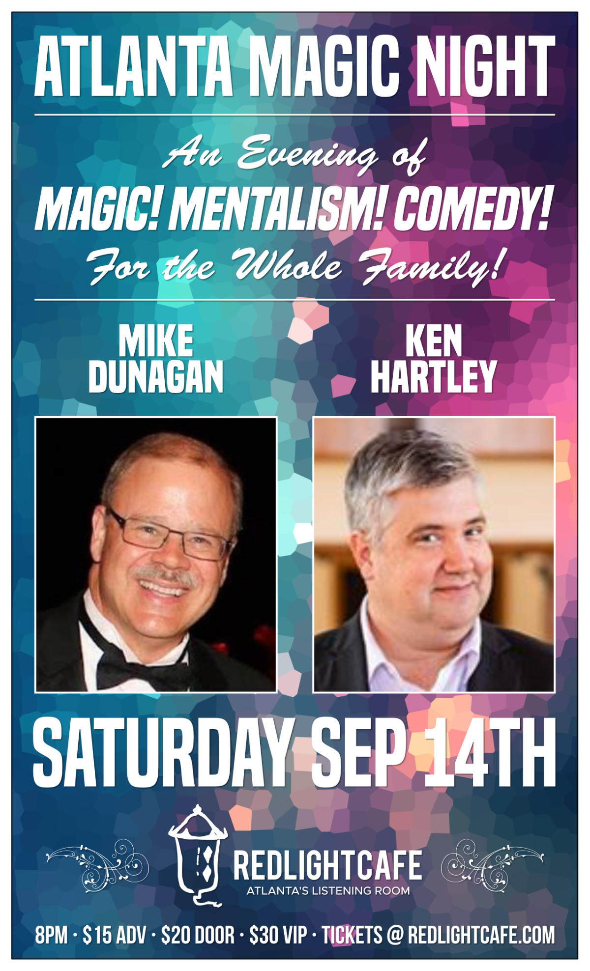 Atlanta Magic Night! w/ Mike Dunagan + Ken Hartley — September 14, 2019 — Red Light Café, Atlanta, GA