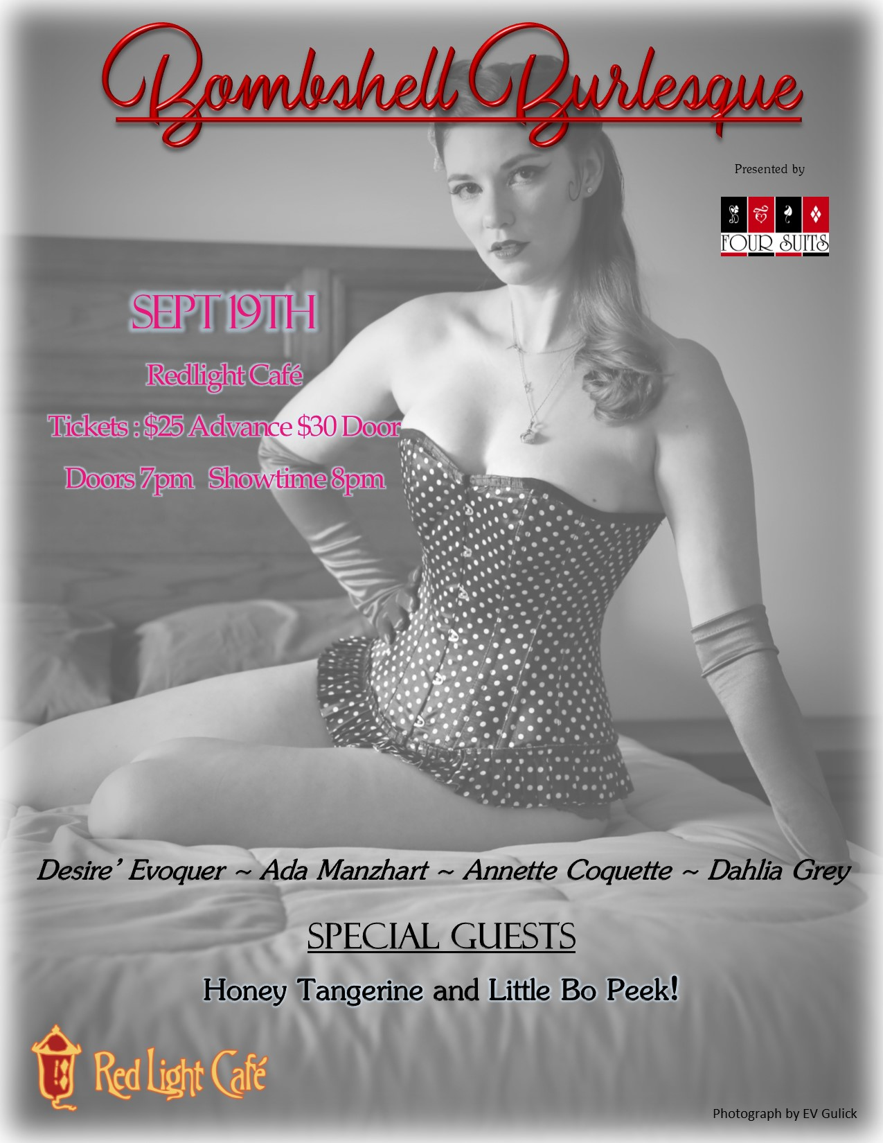 Bombshell Burlesque: Roux La La's Birthday Bash! — September 19, 2019 — Red Light Café, Atlanta, GA