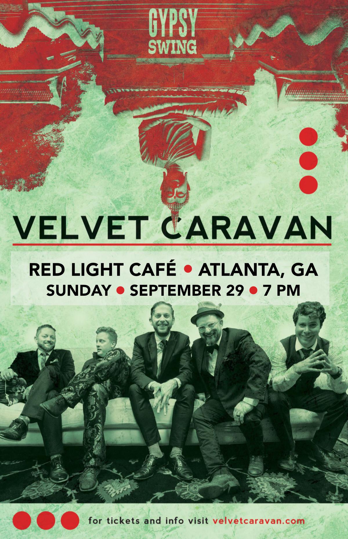 Velvet Caravan: A Sunday Evening of Gypsy Swing — September 29, 2019 — Red Light Café, Atlanta, GA