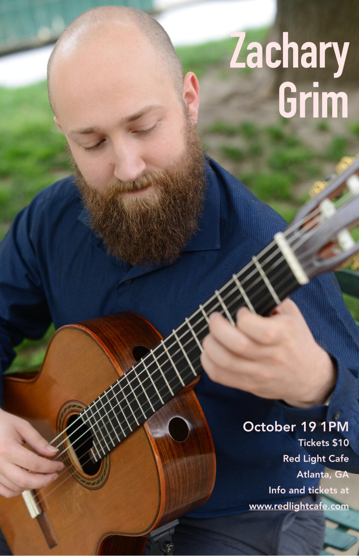 Zachary Grim: The New Guitar — October 19, 2019 — Red Light Café, Atlanta, GA