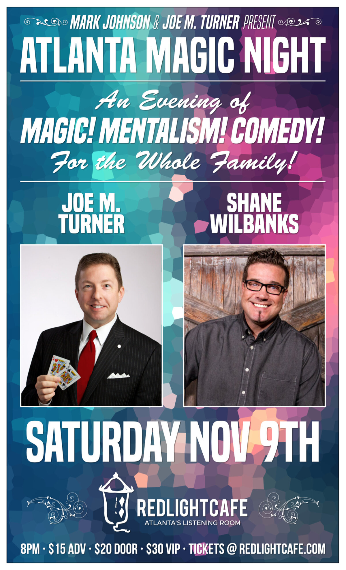 asdfAtlanta Magic Night! w/ Joe M. Turner + Shane Wilbanks — November 9, 2019 — Red Light Café, Atlanta, GA