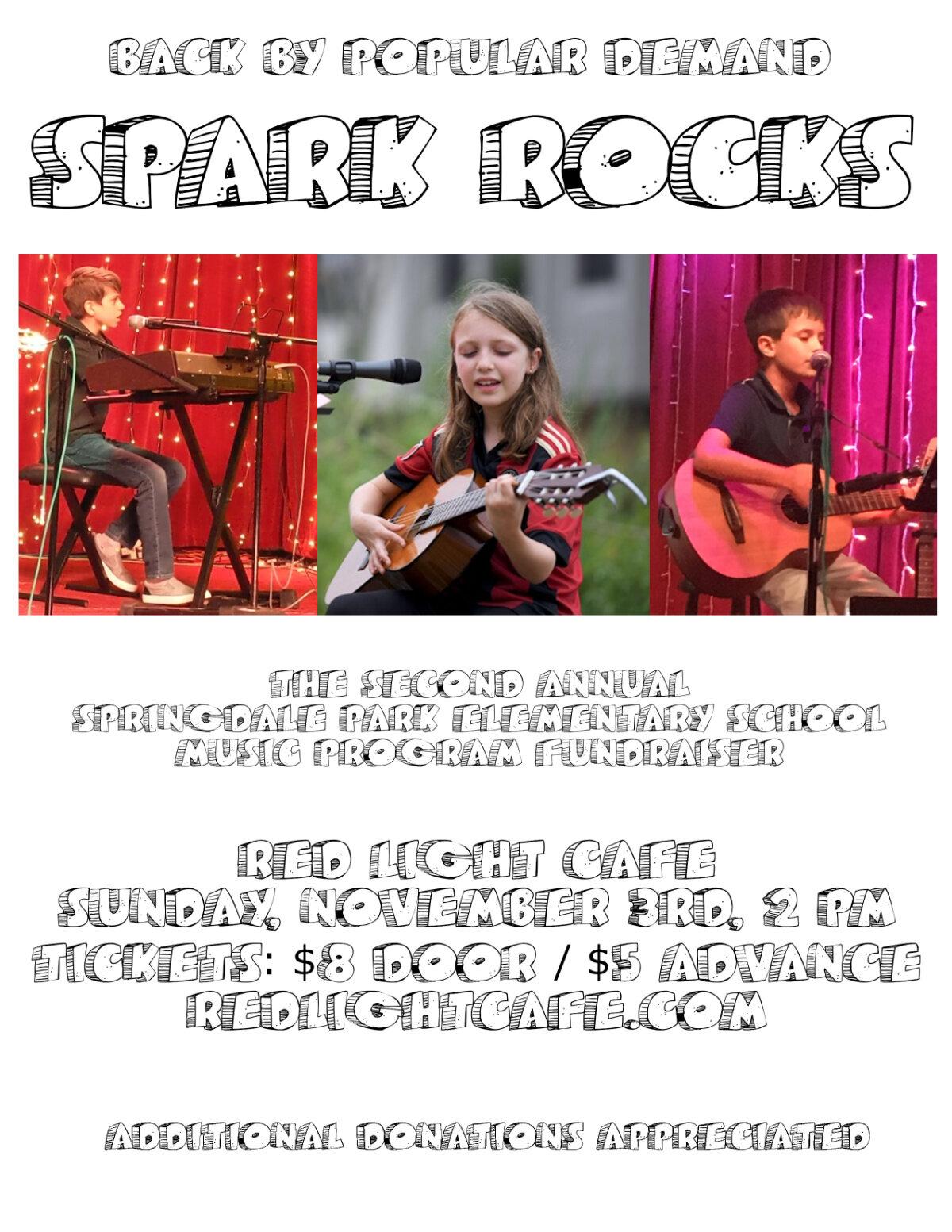 The Second Annual SPARK ROCKS — November 3, 2019 — Red Light Café, Atlanta, GA