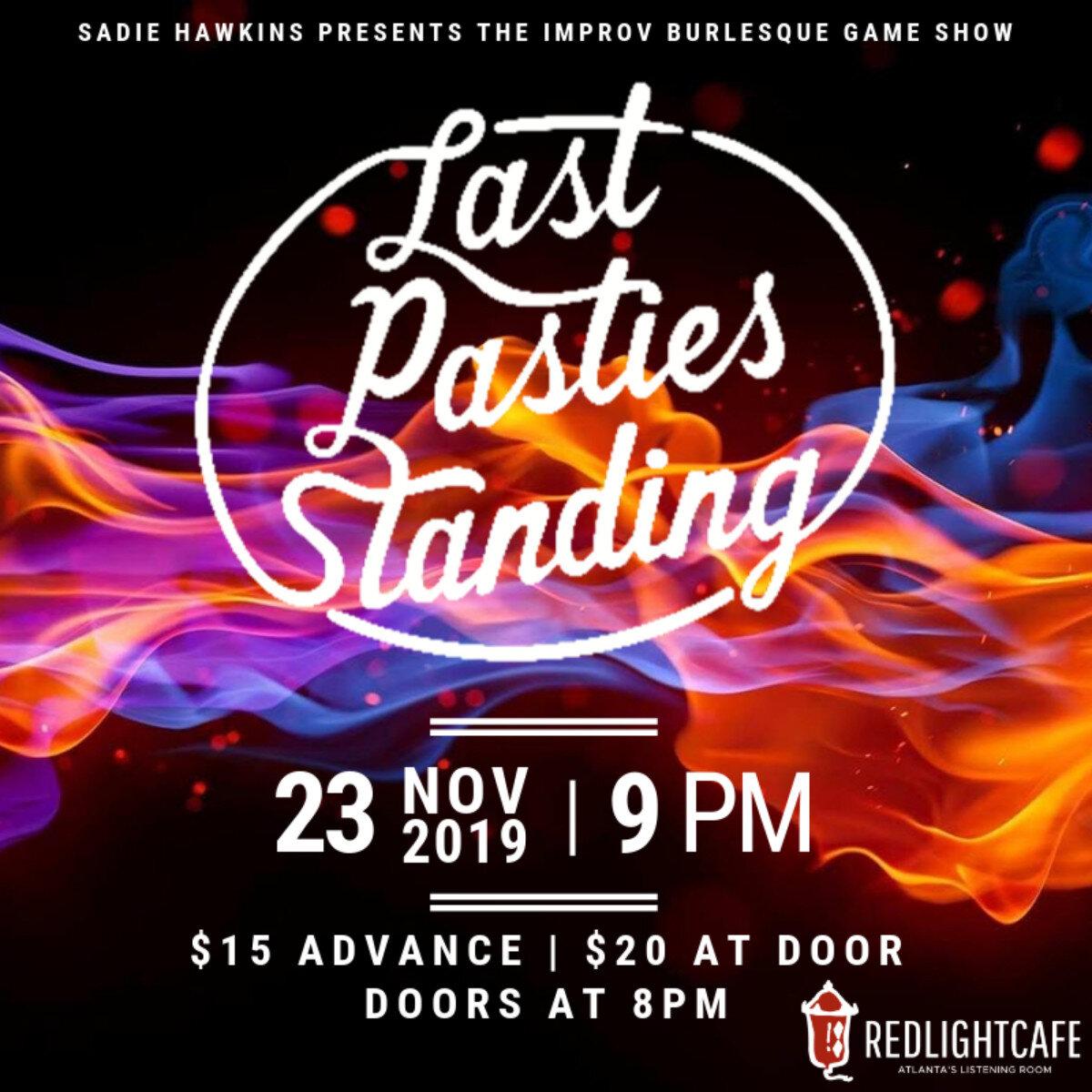 Last Pasties Standing (The Improv Burlesque Game Show): Jock Jams! — November 23, 2019 — Red Light Café, Atlanta, GA