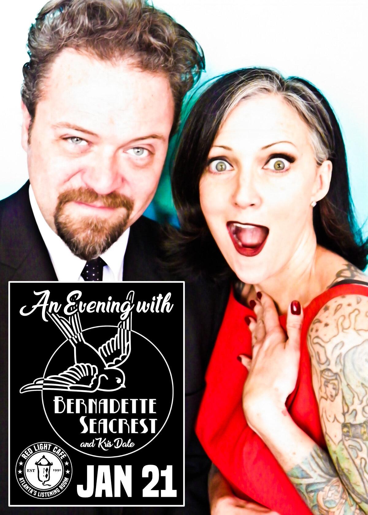 An Evening with Bernadette Seacrest and Kris Dale — January 21, 2020 — Red Light Café, Atlanta, GA