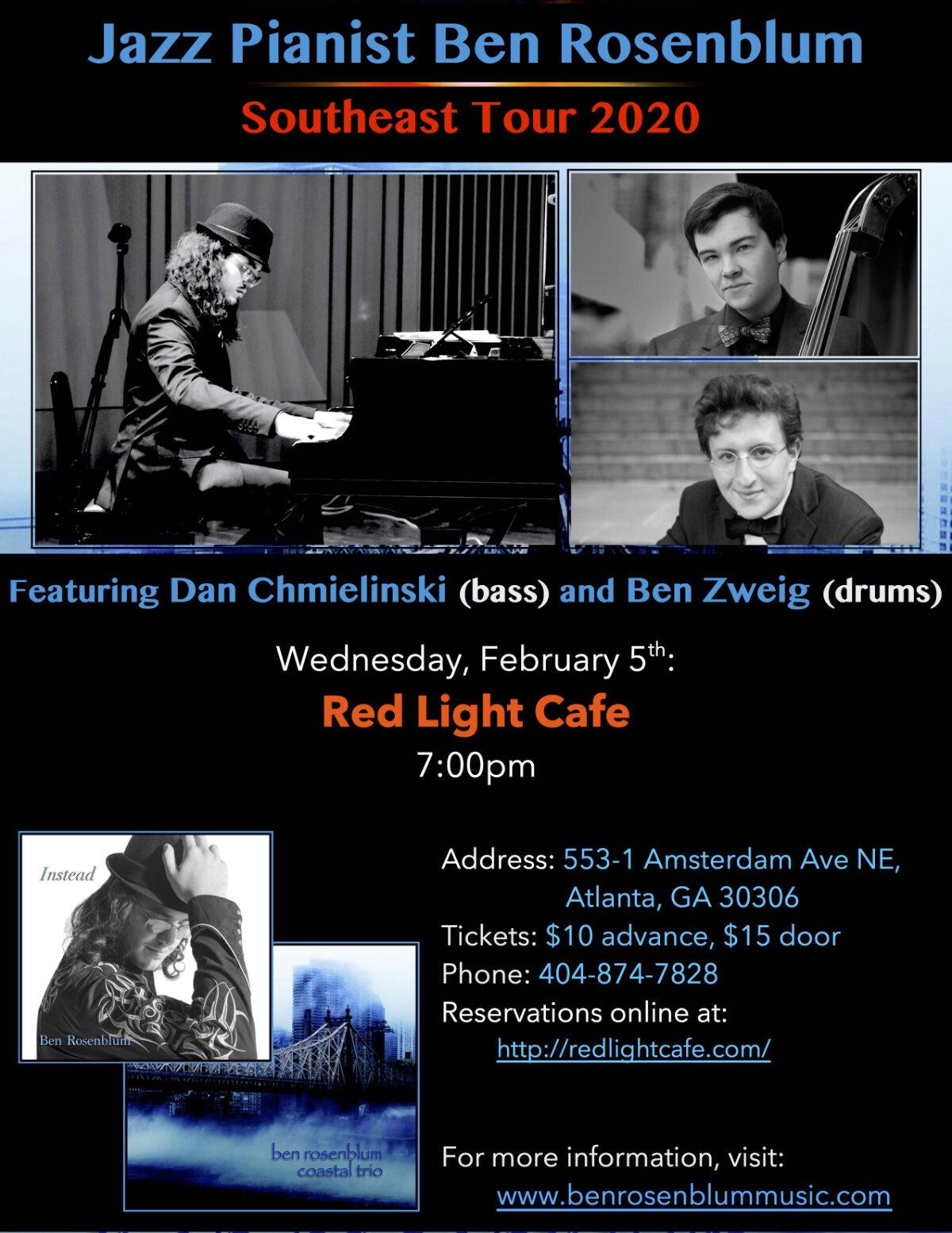 Ben Rosenblum Trio — February 5, 2020 — Red Light Café, Atlanta, GA