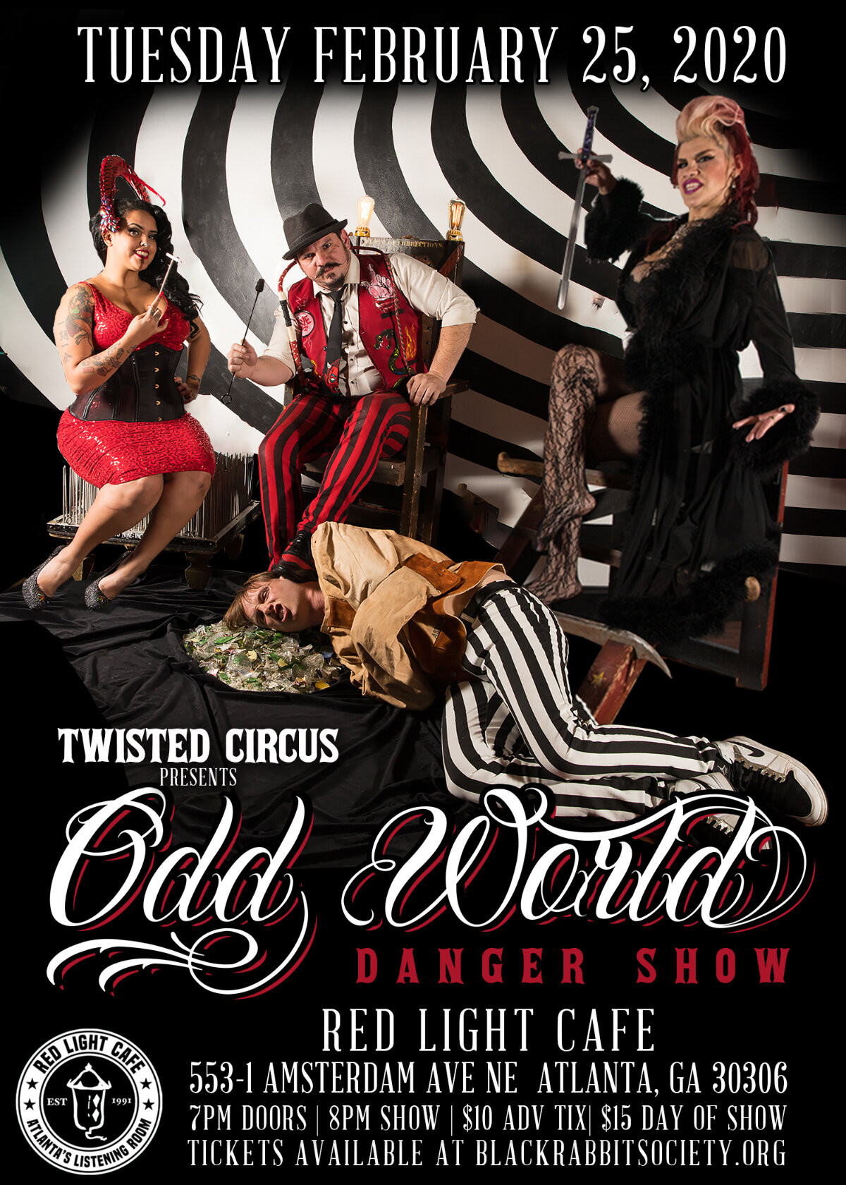 Twisted Circus presents: The Odd World Danger Show — February 25, 2020 — Red Light Café, Atlanta, GA