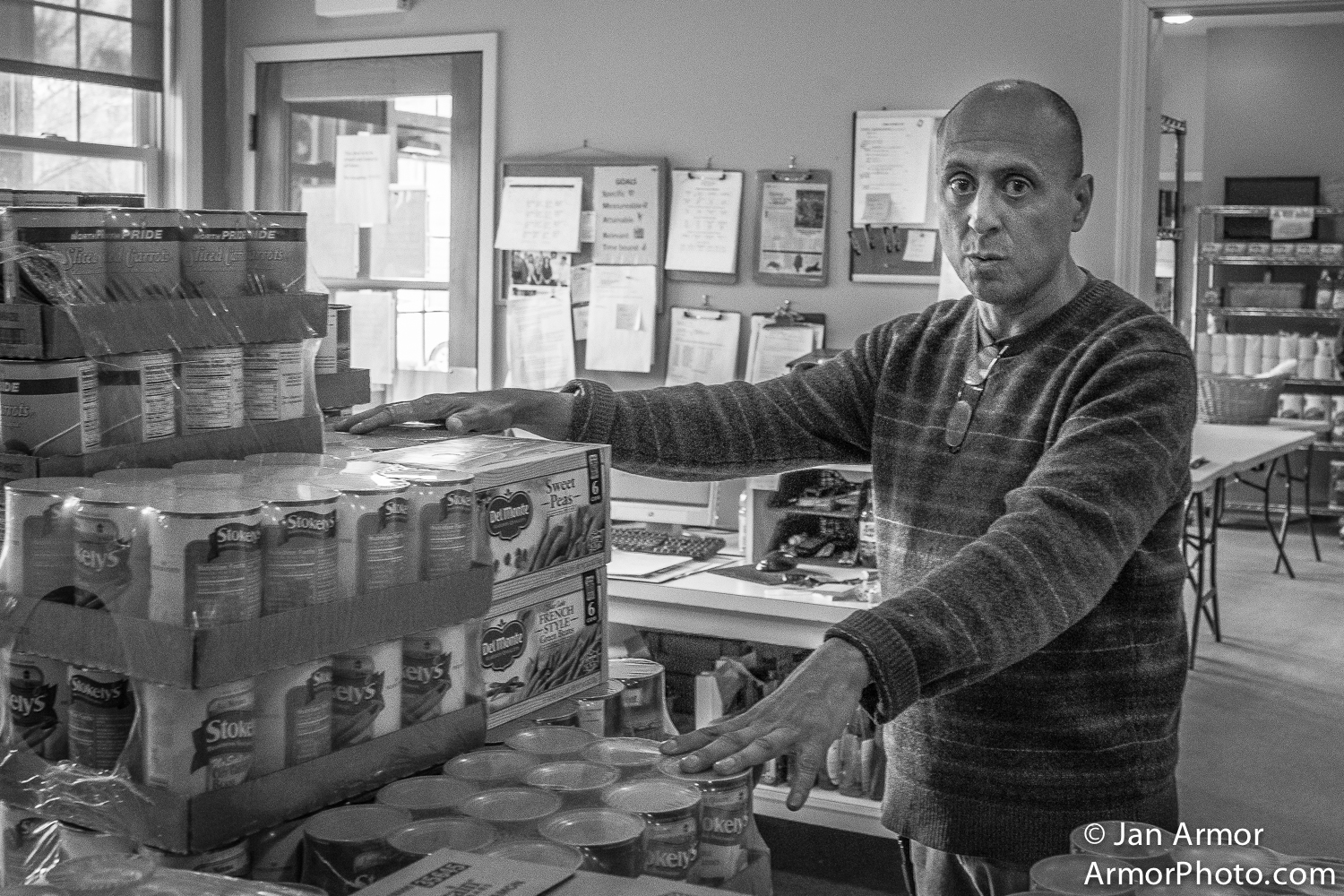 David Olguin, Food Bank,  Jonnycake Center, Peace Dale, R.I.