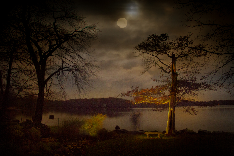 Halloween Moonset