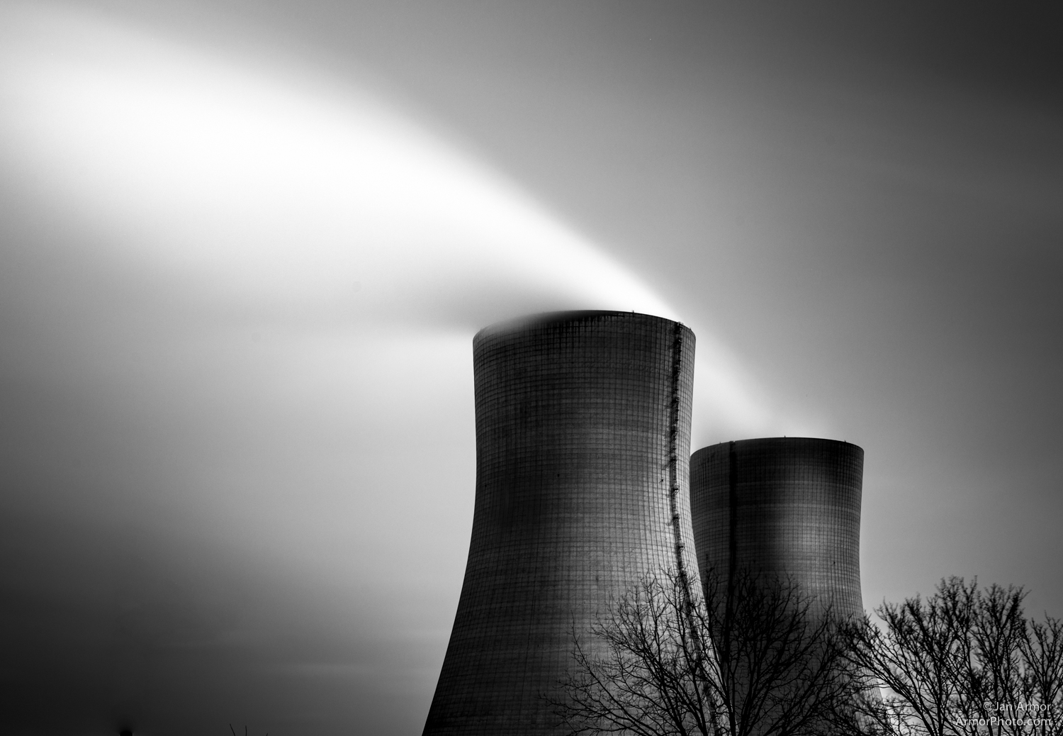 Cooling towers at the Brayton Power Plant, Thank you for this, Michael Kenna.