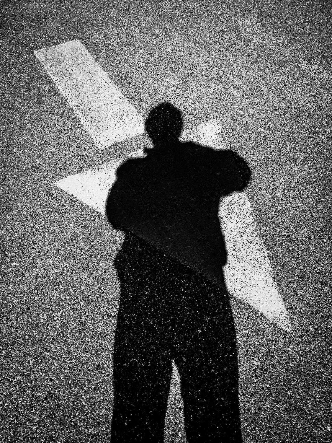 My and my shadow, going the wrong way...